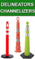 Traffic Delineators And Channelizers