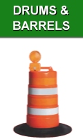 Traffic Drums and Orange Barrels
