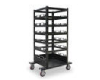 Portable Stanchions Storage Carts