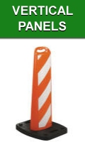 Orange Vertical Traffic Road Construction Panels