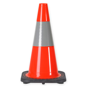 "18"" Reflective Orange Traffic Cone"