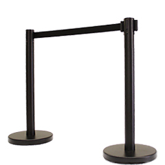Event Rental Equipment Black Retractable Stanchions