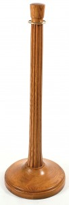 WS-312 Red Oak Wood Stanchions Plain Round Base