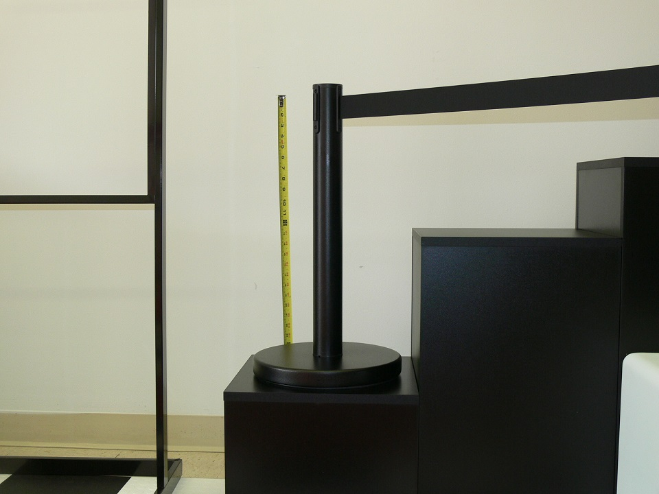Black Powder Coated Metal Mini Stanchions