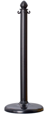 Black Plastic Stanchions