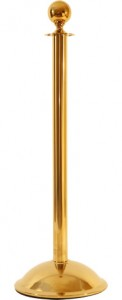 Brass Ropemaster Ball Top Stanchion