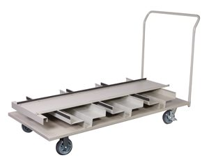 Flatbed Stanchion Cart 18 Post Storage