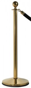 Polished Brass Prime Rope Post Stanchions