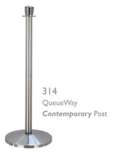 QWAY Queue Way 314 Tapered Urn Top Stanchions