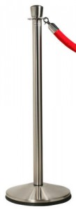 Satin Stainless Steel Rope Stanchions