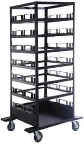 Storage Stanchion Cart STCART18 STCART21