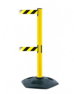 Dual Belt Yellow Safety Stanchions