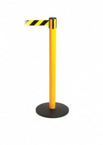 Tensator Tensabarrier 887 Yellow Safety Retractable Stanchion Flat Base