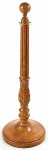 WS-132 Red Oak Wood Stanchion Plain Round Base