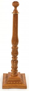 WS-223 Red Oak Wood Stanchion Square Base