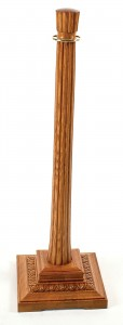 WS-413 Red Oak Wood Stanchion Square Base