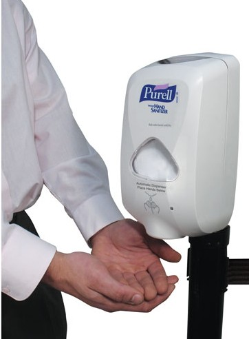 Stanchion Top Hand Sanitizer Station