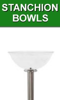 Stanchion Top Merchandising Bowls