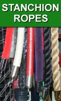 Velvet Velour Naugahyde and Hemp Stanchion Ropes