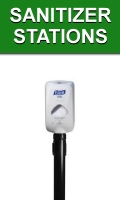 Stanchion Mount Hand Sanitizer Stations