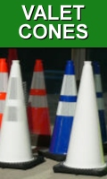 Traffic Cones for Valet Parking Areas
