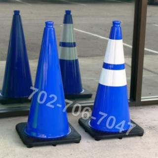 Blue Traffic Safety Cones