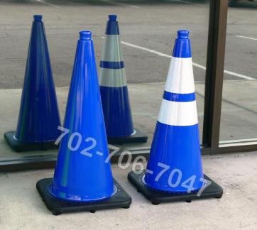 Blue Traffic Cones