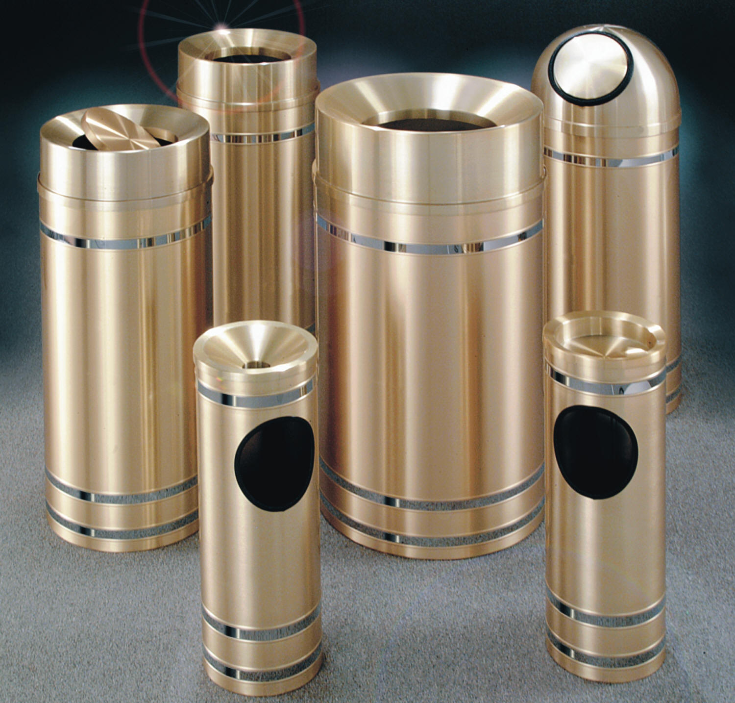 Glaro Capri Brass Trash Receptacles Dealer Las Vegas