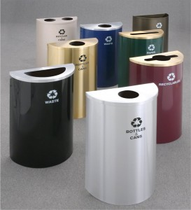 Glaro Half Round Recyclable Receptacles Dealer Las Vegas