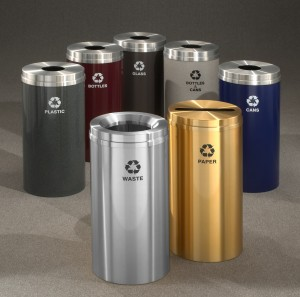 Bank Lobby Receptacles