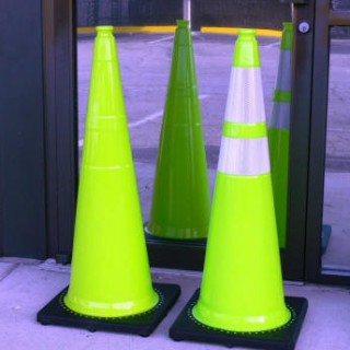 Lime Green Traffic Cones