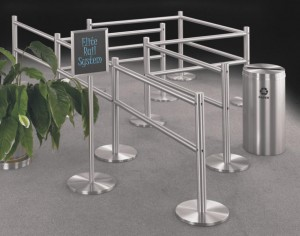 ADA Compliant Dual Two Rail Portable Railing System Hotel Supply