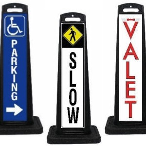 Vertical Valet Parking Lot Signage