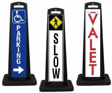 Vertical Valet Parking Lot Signage