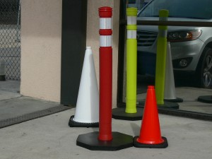 Red Traffic Safety Cones