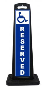 Portable Handicap Reserved Sign