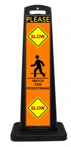 Portable Please Slow Down Sign