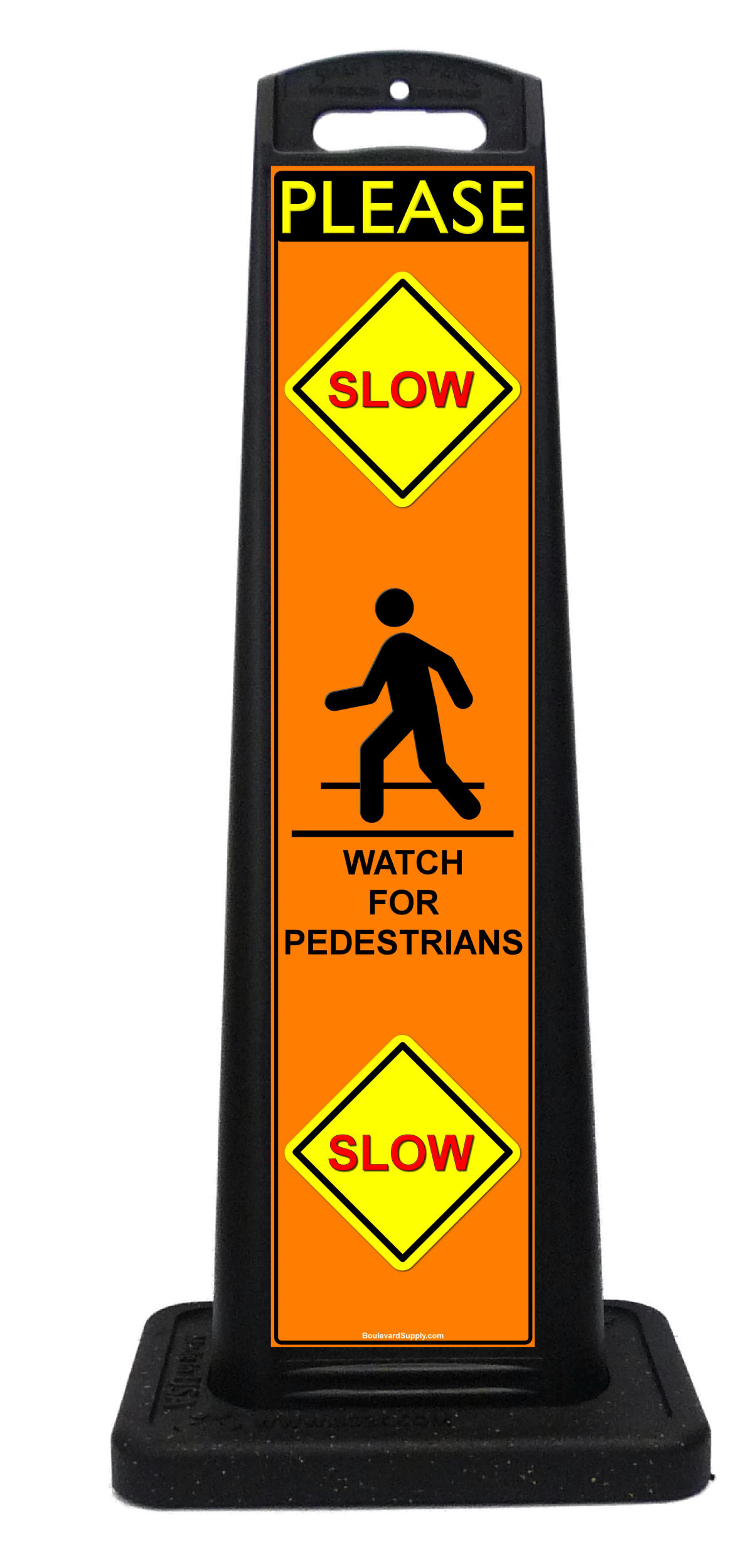 Slow Down Signs >> Custom Sidewalk Signs and Vertical Sign Panels