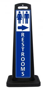 Portable Mens Womens Restrooms Sign