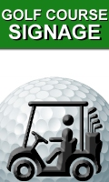 Portable All Weather Temporary Outdoor Golf Course Signs