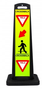 Portable Yield Crosswalk Sign