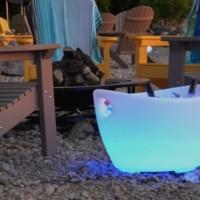LED Ice Tub Open Cooler Beverage Trough