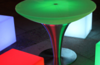 40 Inch LED Round Pedestal Table