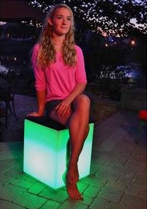 Main Access LED Padded Cube Seat