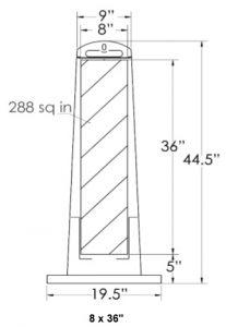 Traffix Premier Vertical Panel Barricade Dimensions