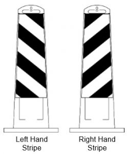 Vertical Panel Barricade Stripe Direction