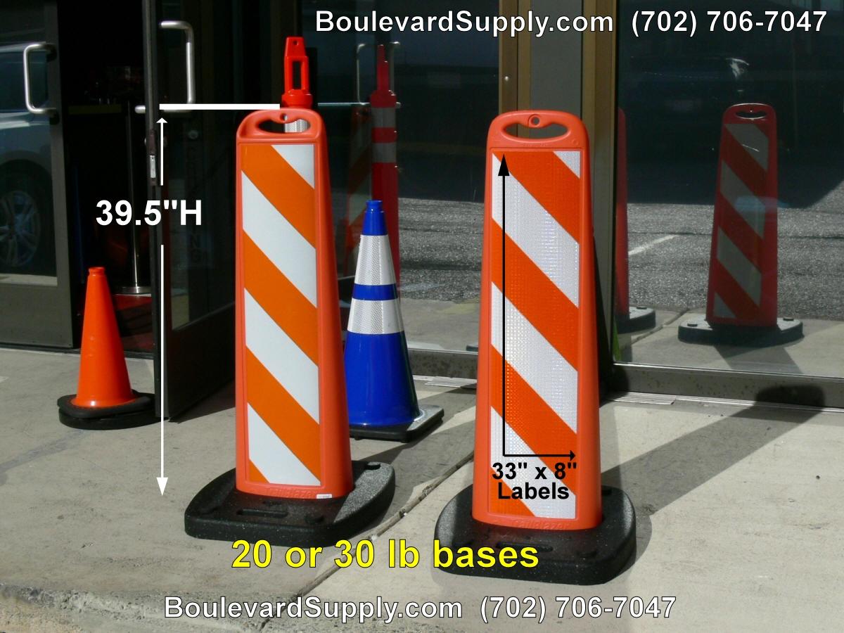 Orange Vertical Traffic Panels