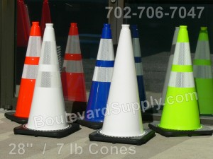 White Traffic Cones