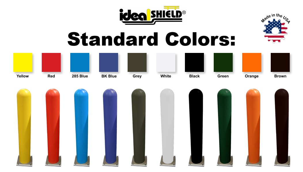 Ideal Shield Bollard Cover Colors