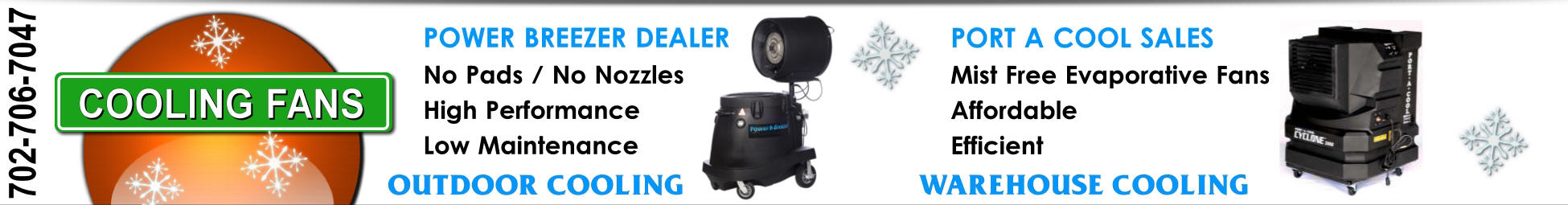 Portable Warehouse and Outdoor Cooling Fan Sales